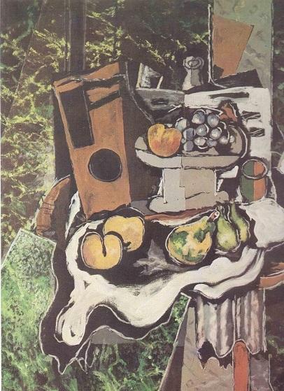 """Жорж Брак, """"Чиния с плодове"""""""
