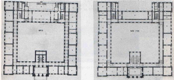 Варна. Девическа гимназия - изглед ; план на партера и на етажа