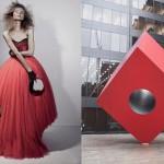 Red cube ; Isamu Noguchi, New York
