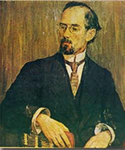 Портрет на Добри Христов от Елисавета Консулова-Вазова