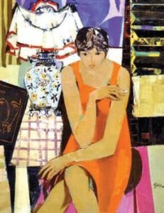 Портрет на Катя Паскалева от Георги Божилов - Слона