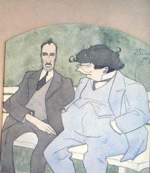 Елин Пелин и Александър Балабанов, 1923