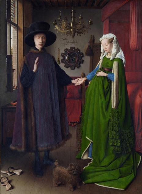 Портрет на Джовани Арнолфини и съпругата му. Худ. Ян ван Ейк