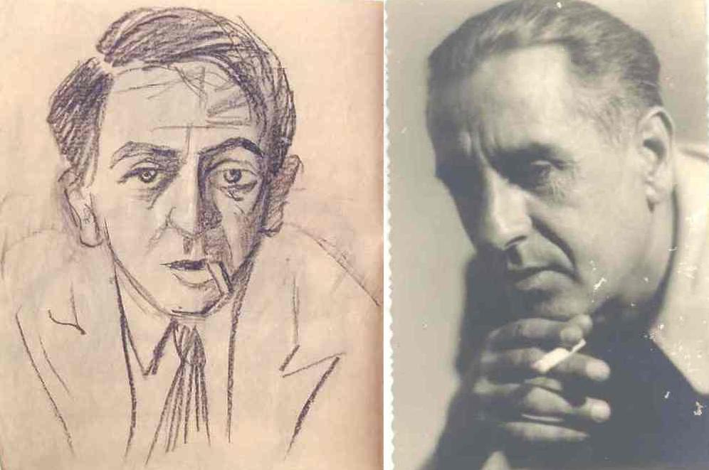 Каварналиев и негов автопортрет