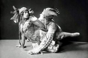Тамара Карсавина като Жар-птица