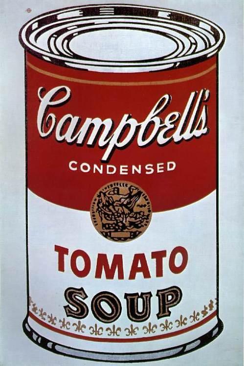 """Анди Уорхол, """"Консервирана супа Камбъл 1"""". Акрил, ликуитекс, сериграфия върху платно. Аахен, Новата галерия - Колекция """"Лудвиг"""""""