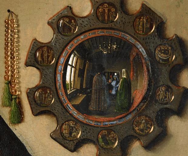 """""""Сватбата на семейство Арнолфини"""" Ян ван Ейк, детайл"""