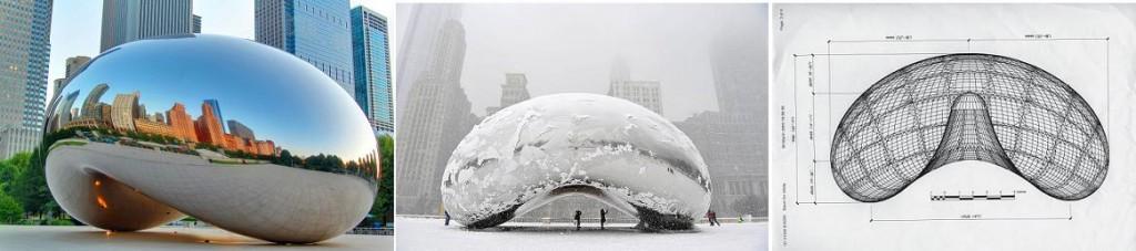 Cloud Gate, 2004. Чикаго, Милениум парк