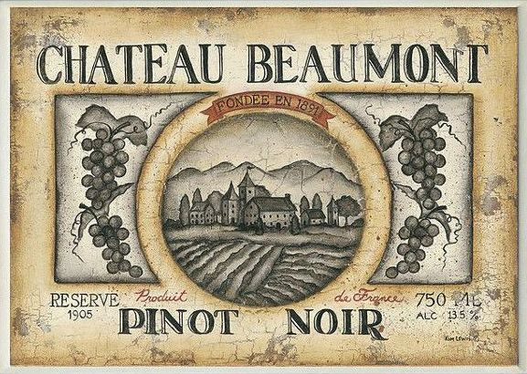 Винен етикет от 1905 г.