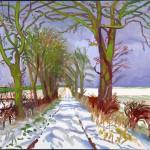 Зимен тунел със сняг, 2006, масло