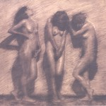 Студия с три голи момичета